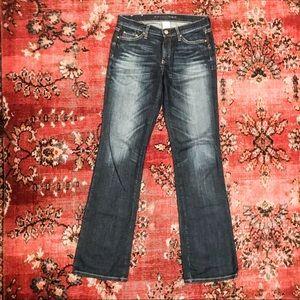 Banana Republic boot cut jeans 27 distressed denim